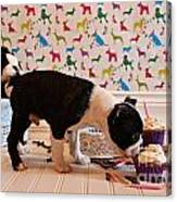 Party On Puppy Canvas Print