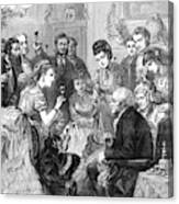 Party Toast, 1872 Canvas Print