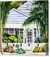 Pass-a-grille Cottage Watercolor Canvas Print