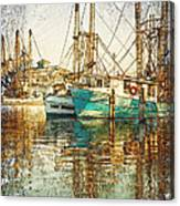 Pass Christian Harbor Sketch Canvas Print