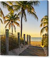 Passage to the beach at sunrise Canvas Print