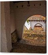 Passageway In Colonial Town Canvas Print