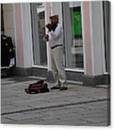 Passau Violinist Canvas Print
