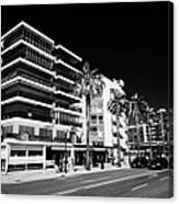 Passeig De Jaume 1 Seafront Road And Properties Salou Catalonia Spain Canvas Print