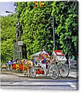 Passenger Cars Only - Central Park Canvas Print