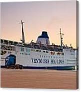 Passenger Port Piraeus. Canvas Print