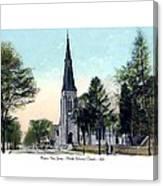 Passiac New Jersey - Norht Reformed Church - 1910 Canvas Print