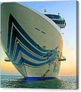 Passing Cruise Ships At Sunset Canvas Print