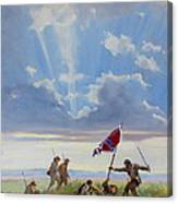 Passing On The Blood Stained Banner Canvas Print