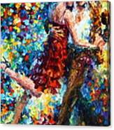 Passion Dancing Canvas Print