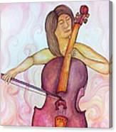 Passionate Cellist Canvas Print