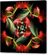 Passionate Love Bouquet Abstract Canvas Print