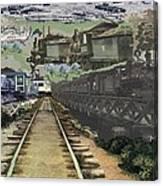 Past Century Trains Canvas Print