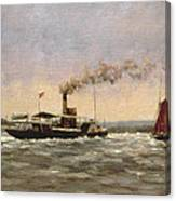 Past On The Medway Canvas Print