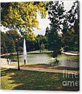 Past Time At Mirror Lake Canvas Print