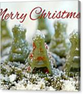 Pasta Christmas Trees With Text Canvas Print