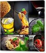 Pasta Collage Canvas Print