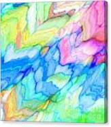 Pastel Abstract Patterns V Canvas Print