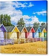 Pastel Beach Huts Canvas Print