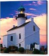 Pastel Drawing Old Point Loma Lighthouse Cabrillo National Monument California Canvas Print