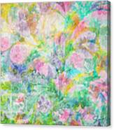 Pastel Flowers By Jan Marvin Canvas Print