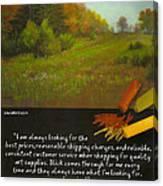 Pastel Journal Canvas Print