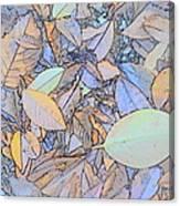 Pastel Leaves Canvas Print