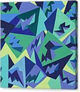 Pastel Pyramids Canvas Print