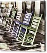 Pastel Rocking Chairs Canvas Print