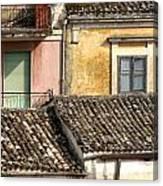 Pastel Roofscape Canvas Print