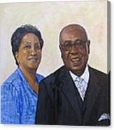 Pastor Donahue And Yvonne Green Canvas Print