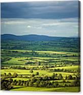 Pastoral Fields, Near Clonea, County Canvas Print