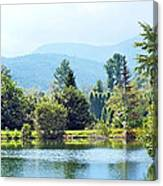 Pastoral Pond And Valley Canvas Print