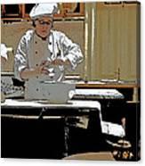 Female Austrian Pastry Chef Canvas Print