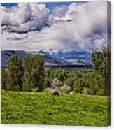 Pastures And Clouds  Canvas Print