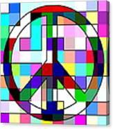 Patch Peace Canvas Print