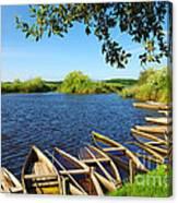 Pateira Boats Canvas Print
