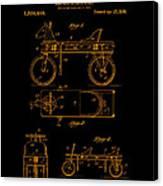 Patent Art 1920 Herzog Hobby Horse Gold Canvas Print