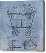 Patent Art Baby Carriage 1922 Mahr Denim Canvas Print