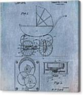 Patent Art Baby Carriage Lark II Invite Canvas Print