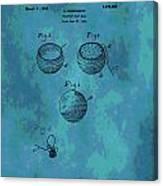 Patent Art Golf Ball Canvas Print
