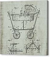 Patent Art Mahr Baby Carriage 1922 Green Canvas Print