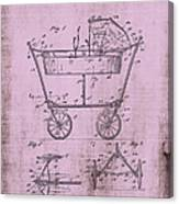 Patent Art Mahr Baby Carriage 1922 Pink Canvas Print