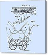 Patent Art Robinson Baby Carriage Blue Canvas Print