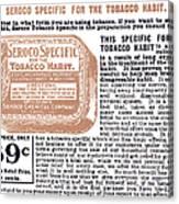 Patent Medicine Ad, 1890s Canvas Print