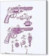 Patented Revolver In Purple Canvas Print