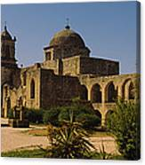 Path In Front Of A Church, Mission San Canvas Print
