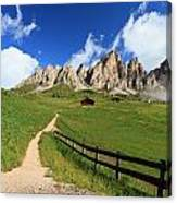 path in Gardena pass Canvas Print