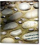 Path Of Pebbles  Canvas Print