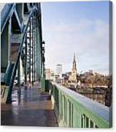 Path On Tyne Bridge Canvas Print